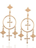 cheap -Women's Drop Earrings , Classic Oversized Alloy Cross Jewelry Daily