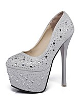 cheap -Women's Shoes Sparkling Glitter Leatherette Spring Fall Basic Pump Heels Stiletto Heel Round Toe Sparkling Glitter for Wedding Party &