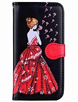 Недорогие -Кейс для Назначение SSamsung Galaxy S8 Plus S8 Кошелек Бумажник для карт со стендом Флип С узором Магнитный Чехол Соблазнительная девушка