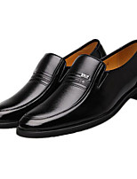 cheap -Men's Shoes Cowhide Spring Fall Comfort Loafers & Slip-Ons for Casual Black