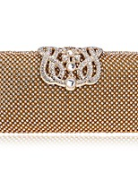 cheap -Women Bags PU Evening Bag Crystal Detailing for Wedding Event/Party All Season Silver Gold