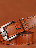 cheap -Men's Alloy Waist Belt,Camel White Brown Vintage Casual