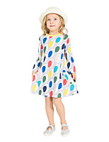 cheap -Girl's Daily Holiday Print Dress,Cotton All Seasons Long Sleeves Cute Casual Gray