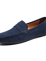 cheap -Men's Shoes Cowsuede Leather Spring Fall Comfort Loafers & Slip-Ons for Casual Office & Career Dark Green Royal Blue Dark Brown Light