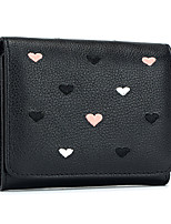 cheap -Women Bags Cowhide Coin Purse Buttons for Casual Office & Career All Season Gray Blushing Pink Black Green