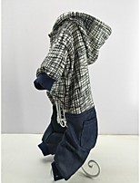 economico -Gatto Cane Felpe con cappuccio Tuta Abbigliamento per cani Alla moda Casual Tenere al caldo Rigato Striscia Costume Per animali domestici