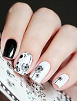 cheap -1 Nail Decals Nail Sticker Black Nail Art Design Decoration