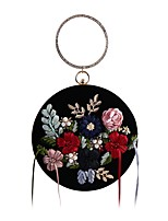 cheap -Women Bags Polyester Evening Bag Crystal Detailing Flower(s) Pearl Detailing Tassel for Wedding Event/Party All Season Black