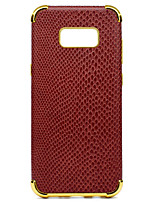 cheap -Case For Samsung Galaxy S8 Plus S8 Shockproof Plating Pattern Back Cover Solid Color Soft PU Leather for S8 Plus S8 S7 edge S7