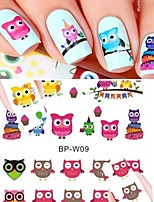 cheap -1 Animal Design Nail Decals Nail Sticker Multi-Color Nail Art Design Decoration