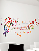 cheap -Floral/Botanical Wall Stickers Plane Wall Stickers Decorative Wall Stickers,Paper Home Decoration Wall Decal Wall