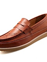 cheap -Men's Shoes PU Spring Fall Comfort Loafers & Slip-Ons for Casual Brown Yellow Black