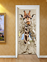 cheap -Animal Landscape Wall Stickers 3D Wall Stickers Decorative Wall StickersVinyl Home Decoration Wall Decal Wall