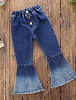 cheap -Girls' Solid Punk Pants Fall Spring, Fall, Winter, Summer Cute Active Light Blue