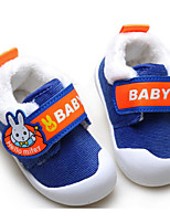 cheap -Baby Shoes Fabric Winter Fall Comfort First Walkers Flats for Casual Royal Blue Peach
