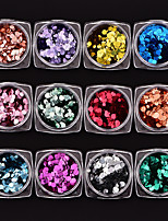 cheap -12 pcs Glitters Sequins Multi-Color Nail Art Design