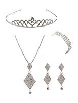 cheap -Women's Tiaras Bridal Jewelry Sets Rhinestone Fashion European Wedding Party Imitation Diamond Alloy Geometric Body Jewelry 1 Necklace 1