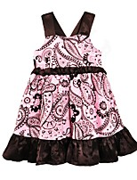 cheap -Girl's Daily Going out Floral Patterned Dress,Cotton Summer Sleeveless Cute Active Blushing Pink