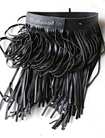 abordables -Vestiditos Negros Gatsby Años 20 Disfraz Mujer Falda Vestido Flapper Vestido Cóctel Negro Cosecha Cosplay Cuero Sintético Sin Mangas
