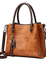 cheap -Women Bags PU Tote Tassel for Casual Office & Career All Season Brown Red Black Green