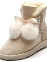 preiswerte -Damen Schuhe Künstliche Mikrofaser Polyurethan Winter Schneestiefel Stiefel Flacher Absatz Runde Zehe Mittelhohe Stiefel für Normal Blau