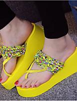 cheap -Women's Shoes EVA Summer Comfort Slippers & Flip-Flops Wedge Heel Open Toe for Casual Green Yellow Black