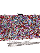 cheap -Women Bags Polyester Evening Bag Pearl Detailing for Wedding Event/Party All Season Rainbow
