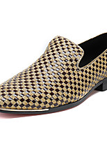 cheap -Men's Shoes Nappa Leather Spring Fall Formal Shoes Comfort Loafers & Slip-Ons for Casual Party & Evening Silver Gold