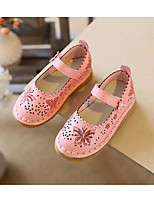 cheap -Girls' Shoes Leatherette Spring Fall Comfort Flower Girl Shoes Flats for Casual Pink Red White