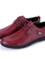 cheap -Men's Shoes Synthetic Microfiber PU Spring Fall Comfort Oxfords for Casual Burgundy Dark Blue Black