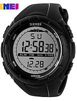 abordables -Hombre Mujer Reloj de Moda Reloj digital Reloj Deportivo Chino Digital Calendario Resistente al Agua Noctilucente Fase lunar Esfera Grande