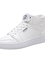cheap -Men's Shoes Patent Leather Spring Summer Fall Comfort Sneakers for Casual Outdoor White Black