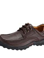 Недорогие -Для мужчин обувь Натуральная кожа Зима Осень Обувь для дайвинга Удобная обувь Туфли на шнуровке для Повседневные Черный Коричневый