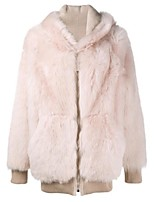 cheap -Women's Going out Casual/Daily Simple Winter Fall Fur Coat,Solid V Neck Long Sleeve Regular Faux Fur Fur Trim