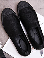 cheap -Men's Shoes Fabric Spring Fall Comfort Loafers & Slip-Ons for Casual Black/White Red Black
