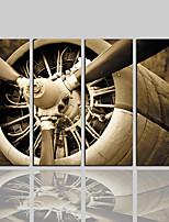 Недорогие -Холст для печати Классика Деревня Modern,4 панели Холст Вертикальная С картинкой Декор стены Украшение дома