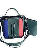 cheap -Women Bags PU Bag Set 2 Pieces Purse Set Zipper for Casual Office & Career All Season Brown Dark Green Black