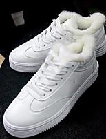 economico -Da donna Scarpe Pelle Inverno Autunno Comoda Sneakers Ballerina Punta tonda per Casual Bianco Nero