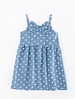 cheap -Girl's Casual/Daily Polka Dot Dress,Polyester Spring Summer Sleeveless Simple Blue