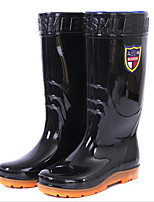 cheap -Men's Shoes PVC Leather Spring Fall Rain Boots Boots Mid-Calf Boots for Casual Black