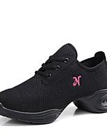 """economico -Da donna Sneakers da danza moderna Tulle Sneaker All'aperto Piatto Bianco Nero Rosso 1 """"- 1 3/4"""" Personalizzabile"""