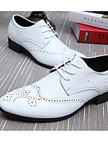 cheap -Men's Shoes PU Spring Fall Comfort Oxfords for Casual Brown Black White