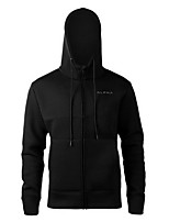 cheap -Men's Sports Hoodie Solid Hooded Stretchy Polyester Long Sleeve Fall/Autumn