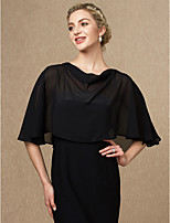 cheap -Sleeveless Chiffon Wedding Party / Evening Women's Wrap Capelets