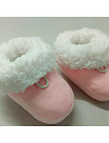 cheap -Baby Shoes Fabric Winter Fall Comfort First Walkers Boots Walking Shoes Mid-Calf Boots Gore for Casual Pink Blue
