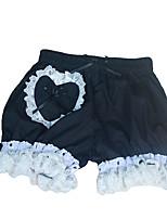 Sweet Lolita Dress Princess Lolita Women's Girls' Pants Cosplay Pink Black White Sleeveless Sleeveless Boyshorts