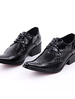 cheap -Men's Shoes Real Leather Spring Fall Novelty Formal Shoes Oxfords for Wedding Party & Evening Black