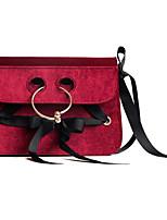 cheap -Women Bags PU Polyester Crossbody Bag Bow(s) Zipper for Casual All Season Blue Black Red