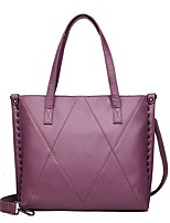cheap -Women Bags PU Shoulder Bag Zipper for Event/Party Casual Winter Fall Purple Gray Red Black