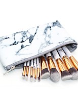 10 pcs Makeup Brush Set Blush Brush Eyeshadow Brush Lip Brush Powder Brush Foundation Brush Synthetic Hair Full Coverage Marble/Granite